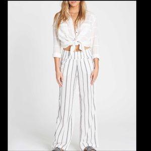 NWT Billabong New Waves Striped Pants. Size Large